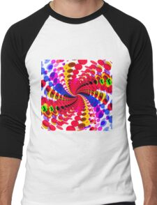 Abstract / Psychedelic Spiral Pattern Men's Baseball ¾ T-Shirt