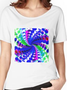 Abstract / Psychedelic Spiral Pattern Women's Relaxed Fit T-Shirt