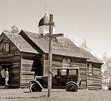 St. Nicholas Russo-Greek Orthodox Church - Ukrainian Cultural & Heritage Village, Alberta, Canada by Adrian Paul