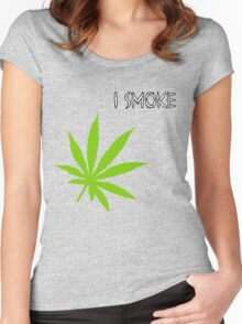 I Smoke Marijuana Women's Fitted Scoop T-Shirt
