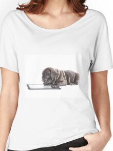 Frenchie Surfer Women's Relaxed Fit T-Shirt