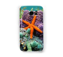 Comet sea star with colorful sponge underwater Samsung Galaxy Case/Skin