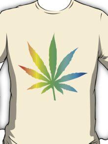Rainbow Marijuana Leaf T-Shirt