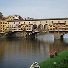 Ponte Vecchio Medieval Bridge in Florence, Italy by Laura Cooper