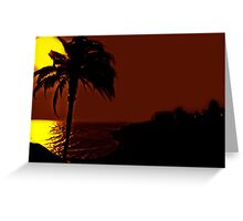 Summer Sunset Landscape Greeting Card