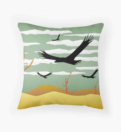 Free Bird Illustration Throw Pillow