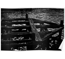 Whitby Swing Bridge Foot Poster