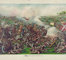 Battle of Five Forks Charge of Gen Sheridan April 1st 1865 by allhistory