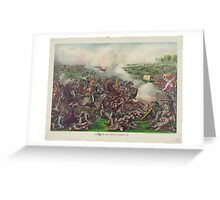Battle of Five Forks Charge of Gen Sheridan April 1st 1865 Greeting Card