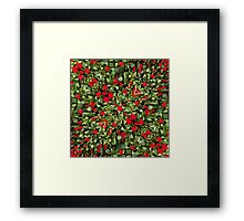 Flowers and Plants Pattern Framed Print