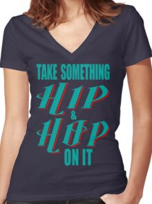hip hop tribute Women's Fitted V-Neck T-Shirt
