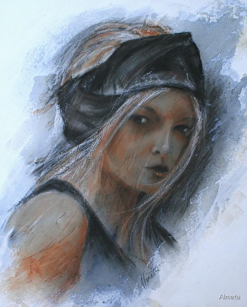 girl with black headband by Almeta