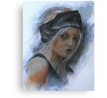 girl with black headband Canvas Print