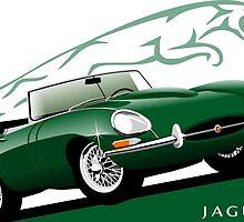 E-Type Jaguar Series 1 Roadster BRG by car2oonz