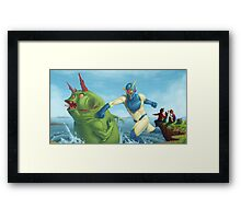 Commander Captain Saves the Day! Framed Print