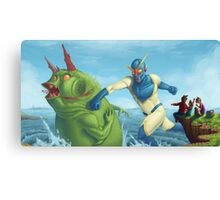 Commander Captain Saves the Day! Canvas Print