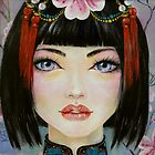 China Girl with Eyes of Blue by KimTurner
