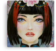 China Girl with Eyes of Blue Canvas Print