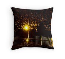 Night Lights - Round and Round Throw Pillow