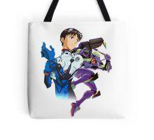 Shinji Ikari and Eva Unit-01 Tote Bag