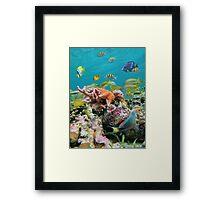 underwater sea life colors Framed Print