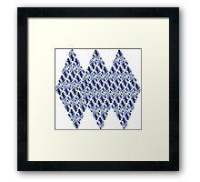 Blue Crystals Pattern Trio Framed Print