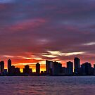 Sunset Over Jersey City (HDR) by Dave Bledsoe