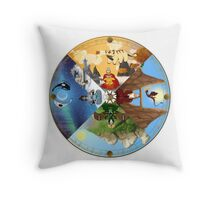 The Cycle of the Seasons Throw Pillow