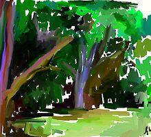 Gum trees by Untamedart