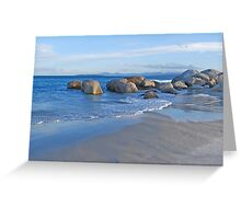 Late Afternoon at Beer Barrel Beach Greeting Card