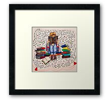 Reading is Dreaming with Open Eyes. Framed Print