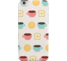 Coffee and Toast Pattern iPhone Case/Skin