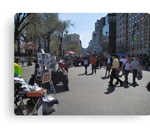 Artists in Union Square Canvas Print