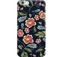 Dark Flower Pattern iPhone Case/Skin
