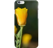 California Poppies - view from aside iPhone Case/Skin