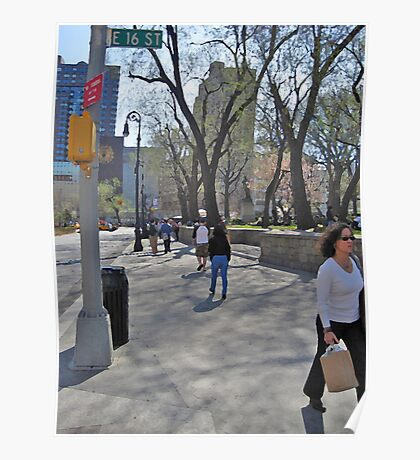 East 16th Street & Union Square Poster
