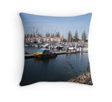 Colourful Marina - Yachts in Celebration Throw Pillow