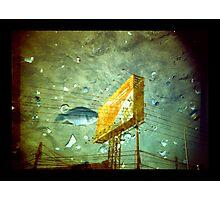 Fish And Billboard Photographic Print