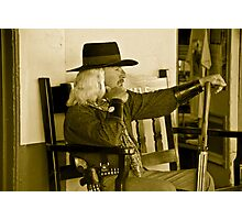 Old Time Cowboy Photographic Print