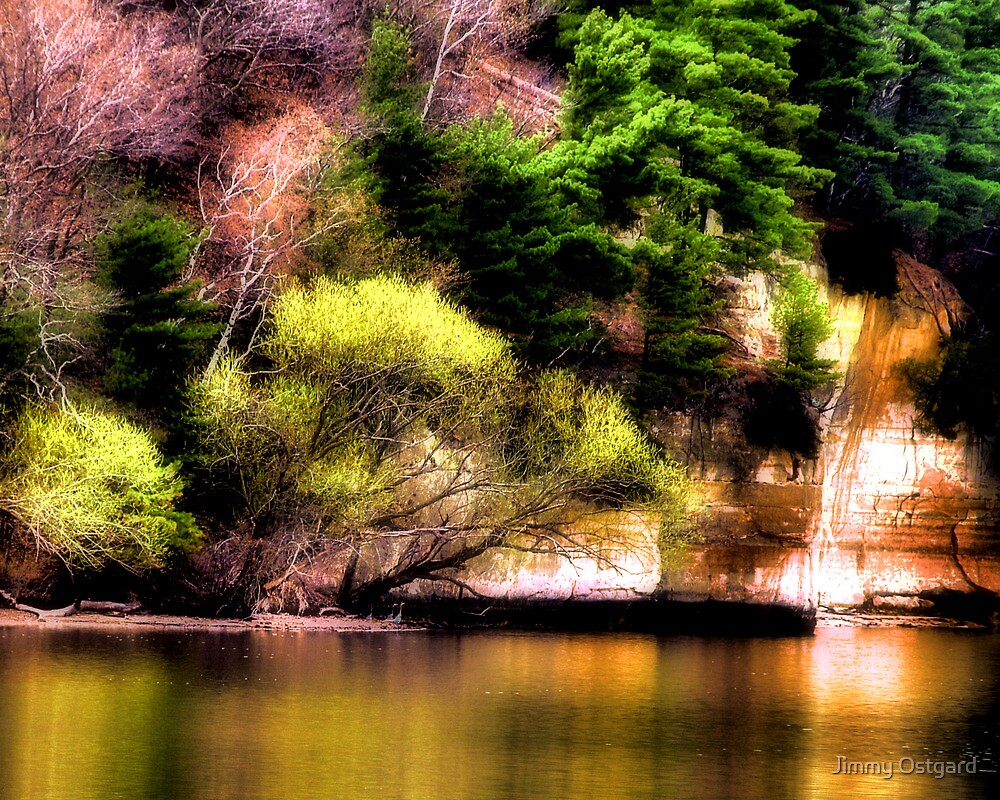 Reflections Off the Lake by Jimmy Ostgard