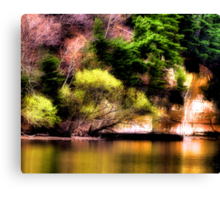 Reflections Off the Lake Canvas Print