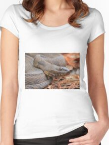 Water Snake Women's Fitted Scoop T-Shirt