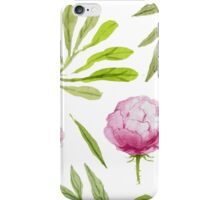 Flowers and Greens Pattern iPhone Case/Skin