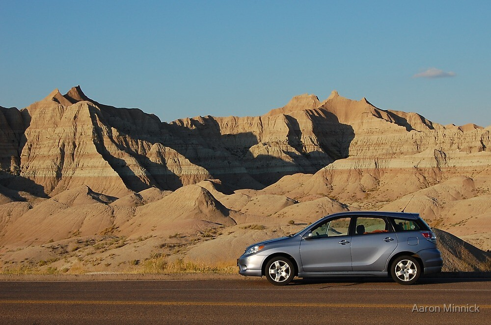 Toyota Matrix - Badlands NP by Aaron Minnick
