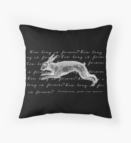 Alice in Wonderland - How Long is Forever? Throw Pillow