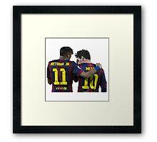 messi and neymar Framed Print