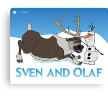 Sven and Olaf Canvas Print
