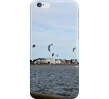 Kite Surfing at Poole Harbour. iPhone Case/Skin