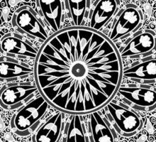 Black and White Mandala Sticker