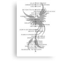 First Order of the Phoenix Canvas Print